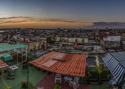 Havana Rooftops Sunset